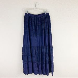 Indigo soul lace boho long maxi skirt